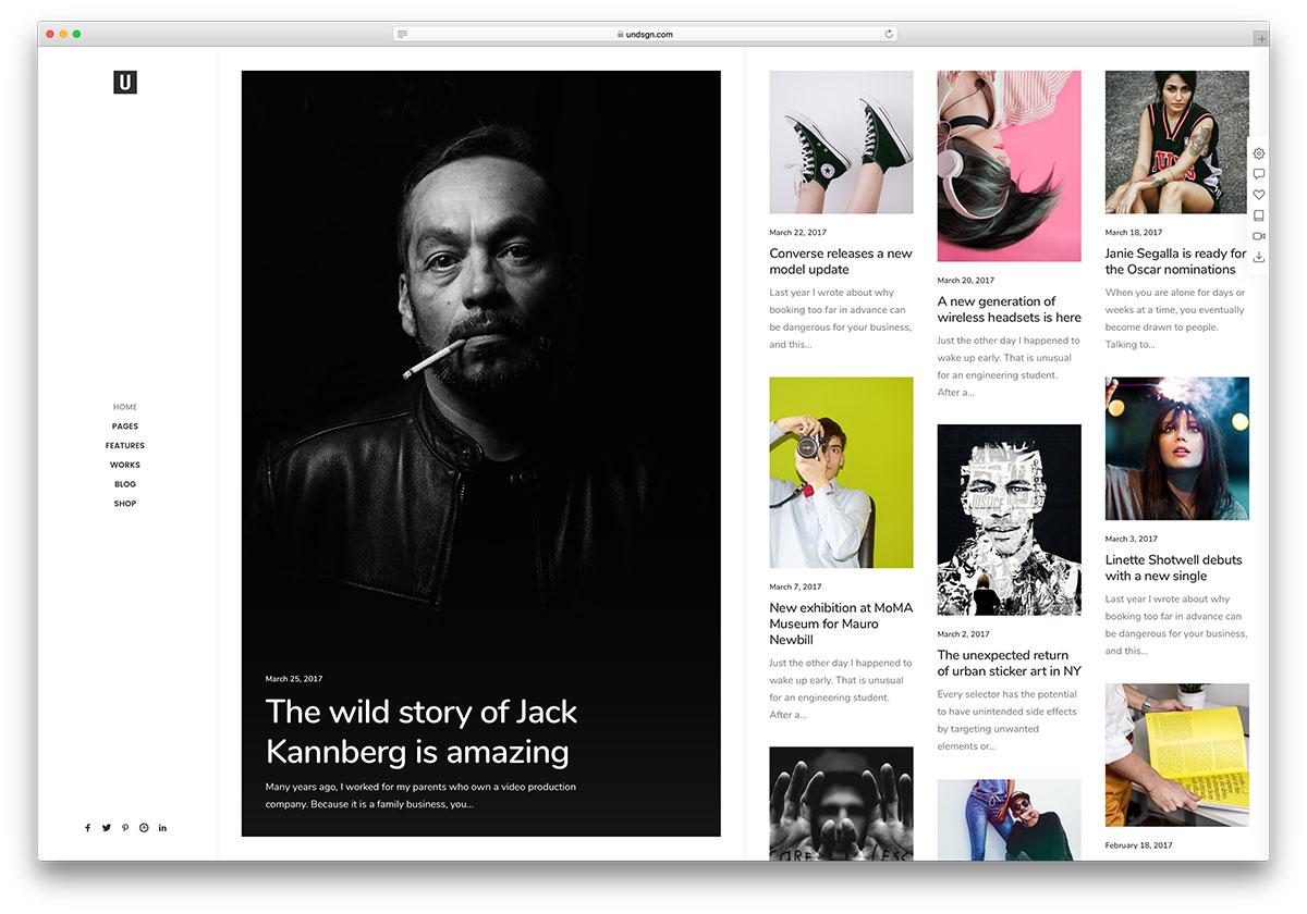 uncode photography blog wordpress theme - 25 Marvelous WordPress Photography Blog Themes For Hobby and Professional Photographers 2018