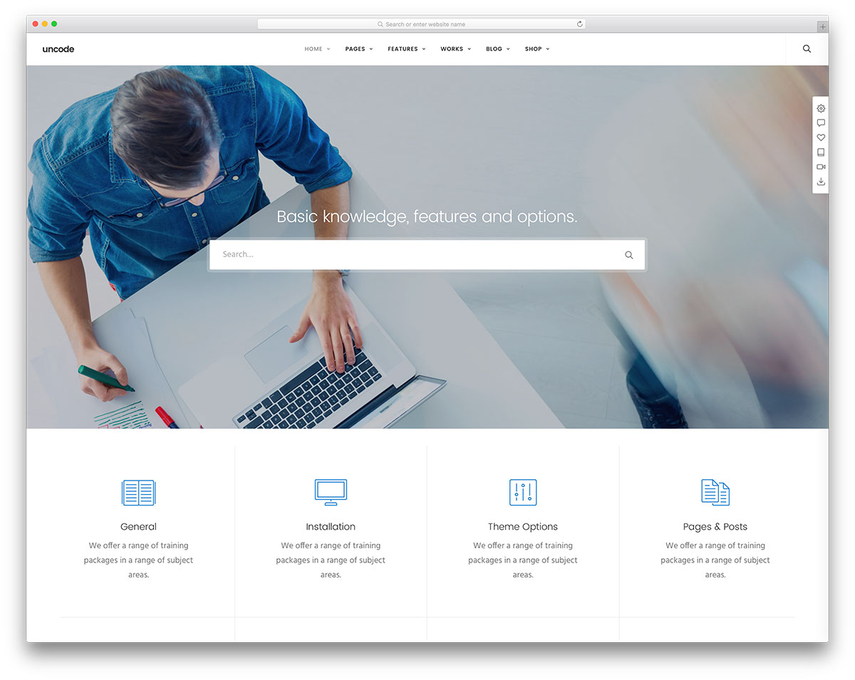 Uncode Tech Support Wordpress Template
