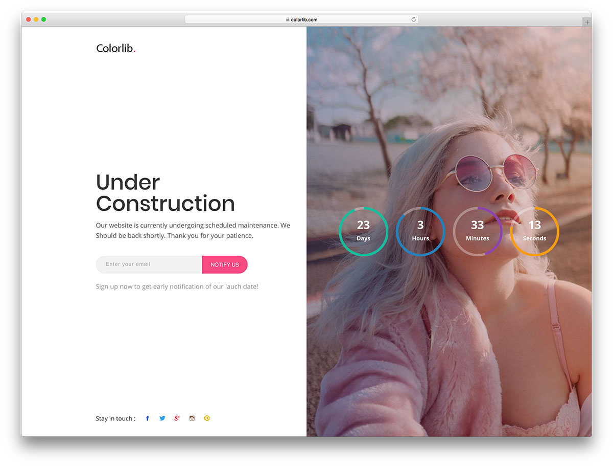 23 Best Free Under Construction & Coming Soon Templates To Engage Visitors Even When Your Site Is Down