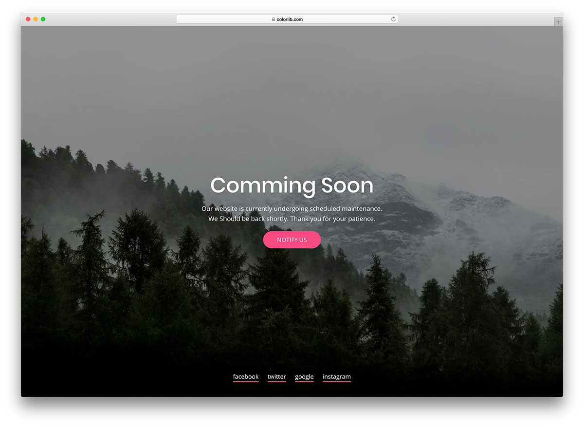 23 free under construction coming soon website templates for Simple under construction html template
