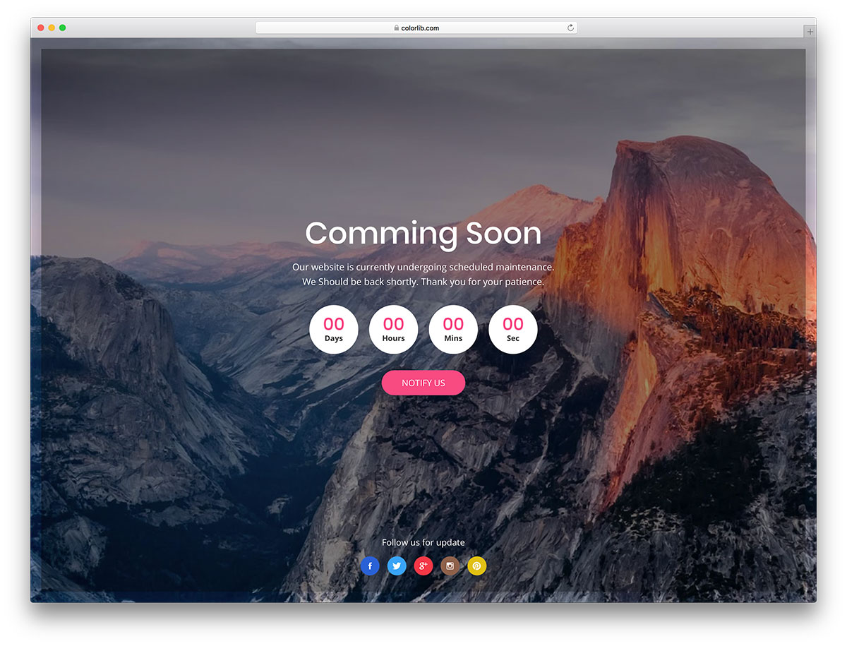 23 Free Under Construction & Coming Soon Website Templates 2018 ...