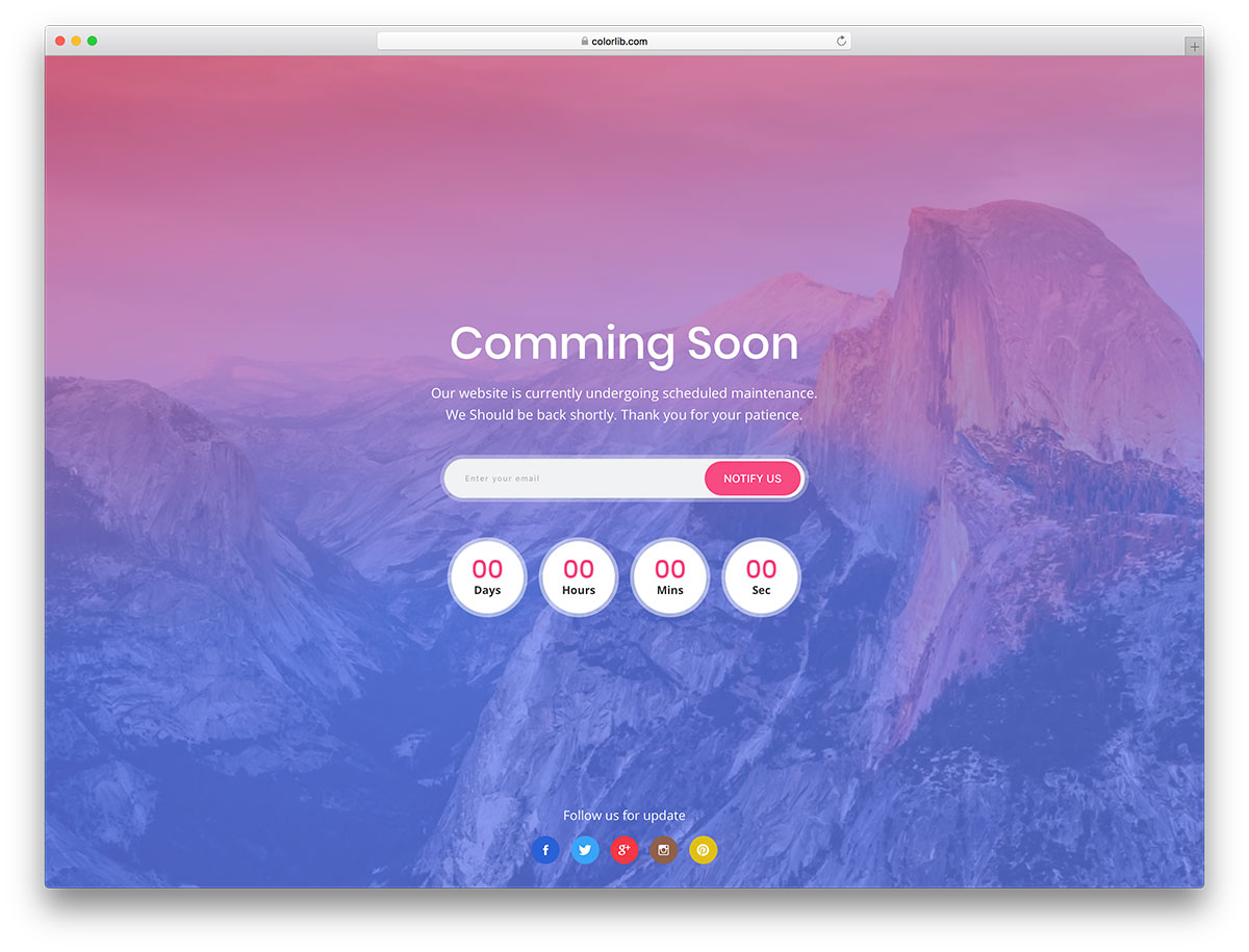 23 Best Free Under Construction Coming Soon Templates To Engage
