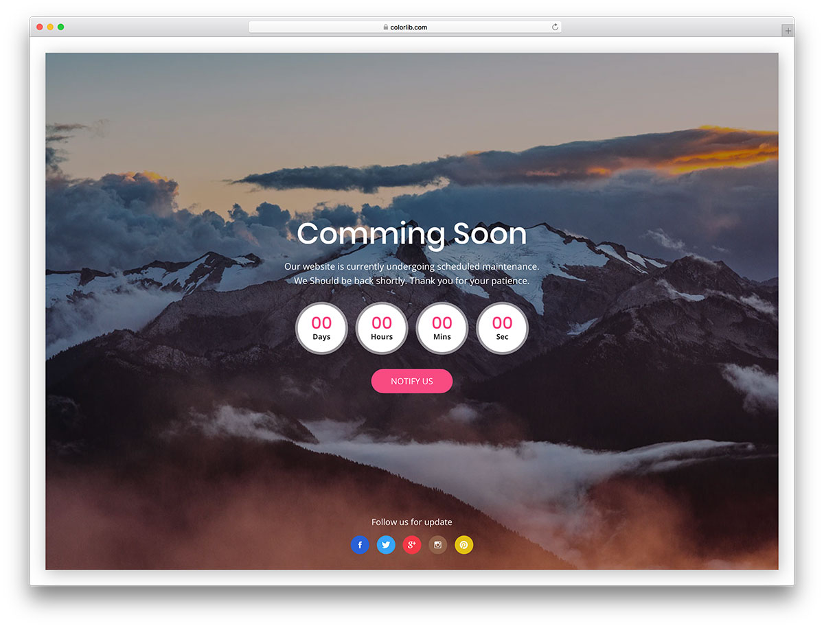 23 free under construction coming soon website templates 2018