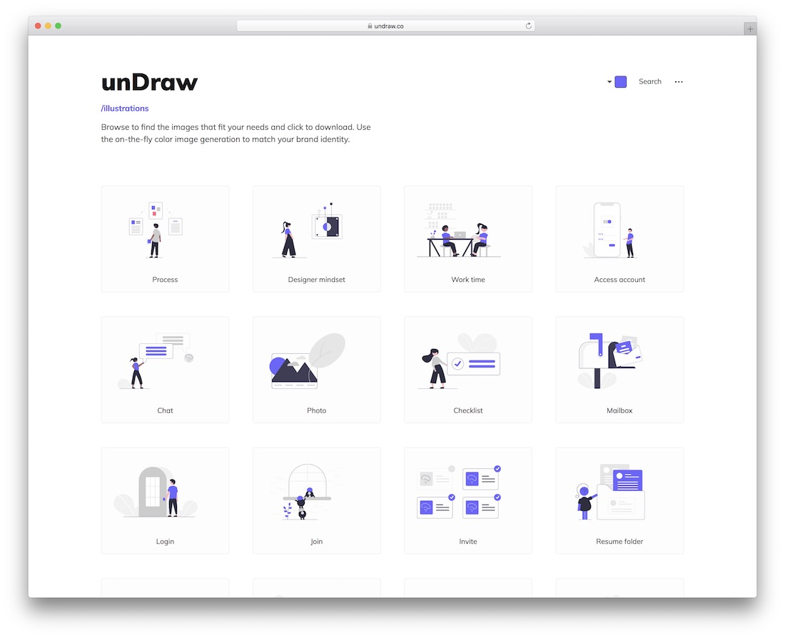 undraw free vector images website