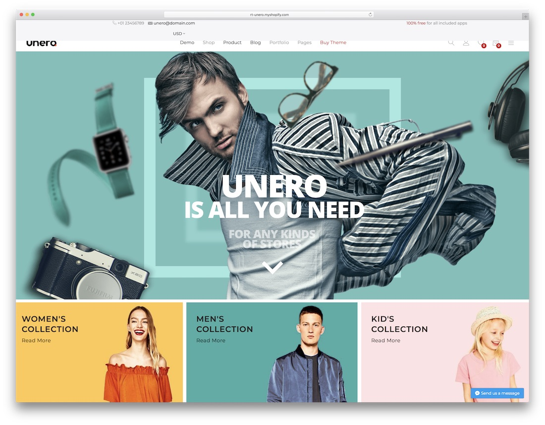 unero fashion shopify theme