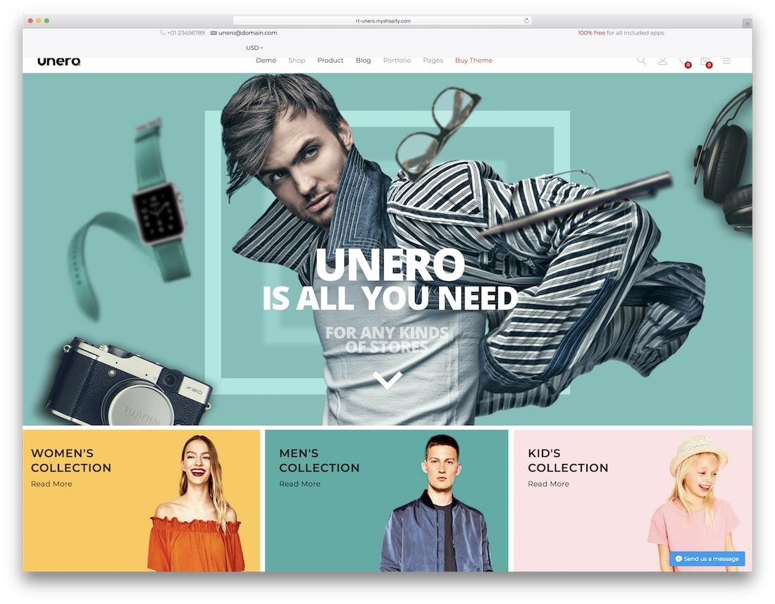 unero fashion shopify theme