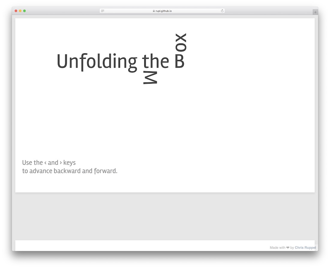 unfolding the box model css slider