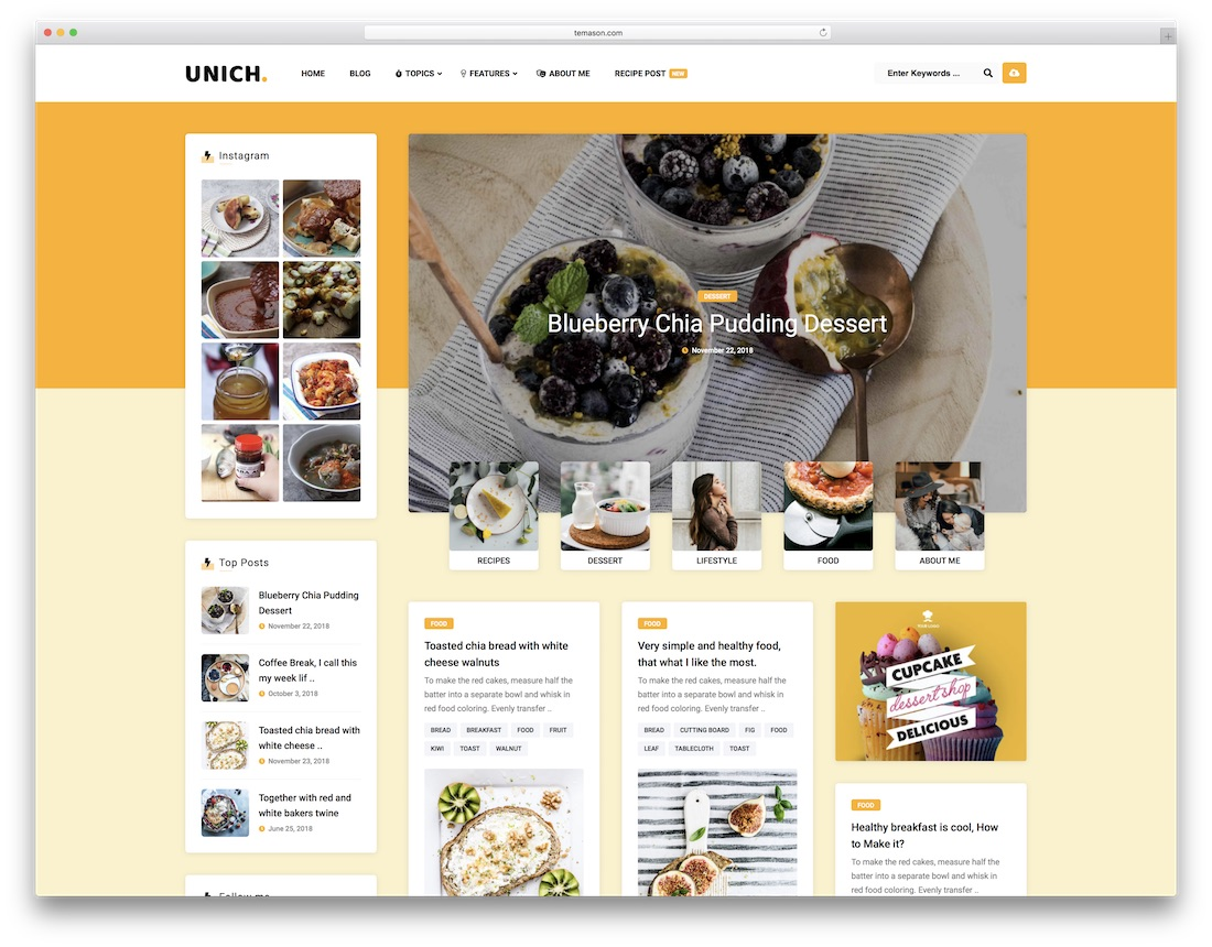 unich masonry grid wordpress theme