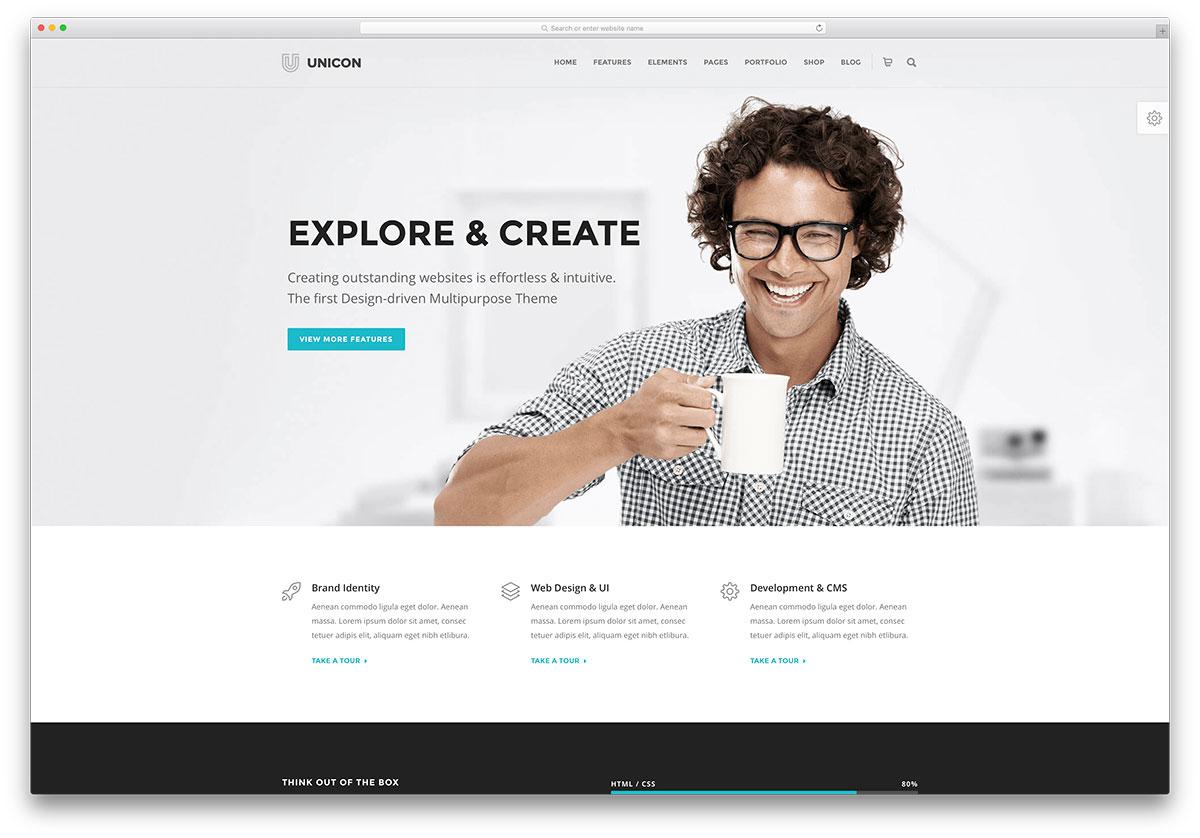 unicon-flat-design-business-theme