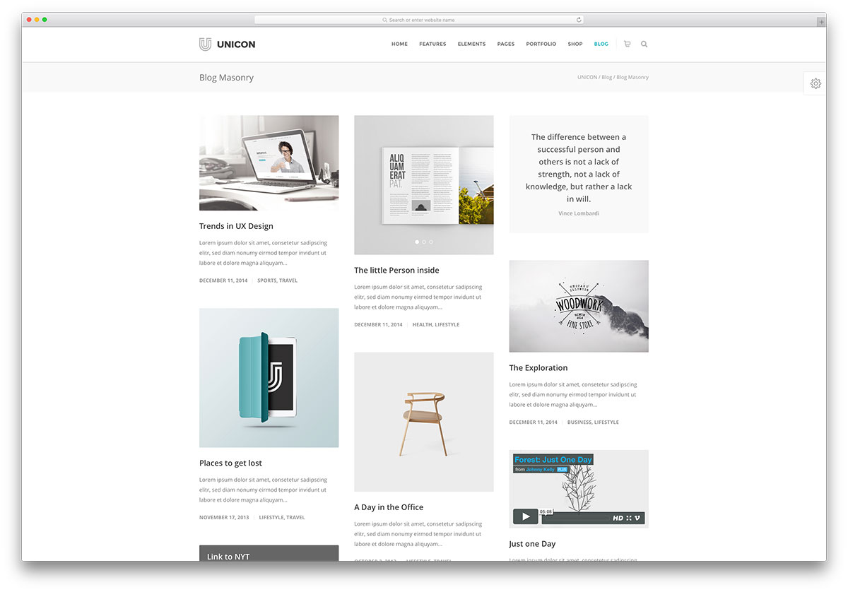 unicon-simple-corporate-blog-theme