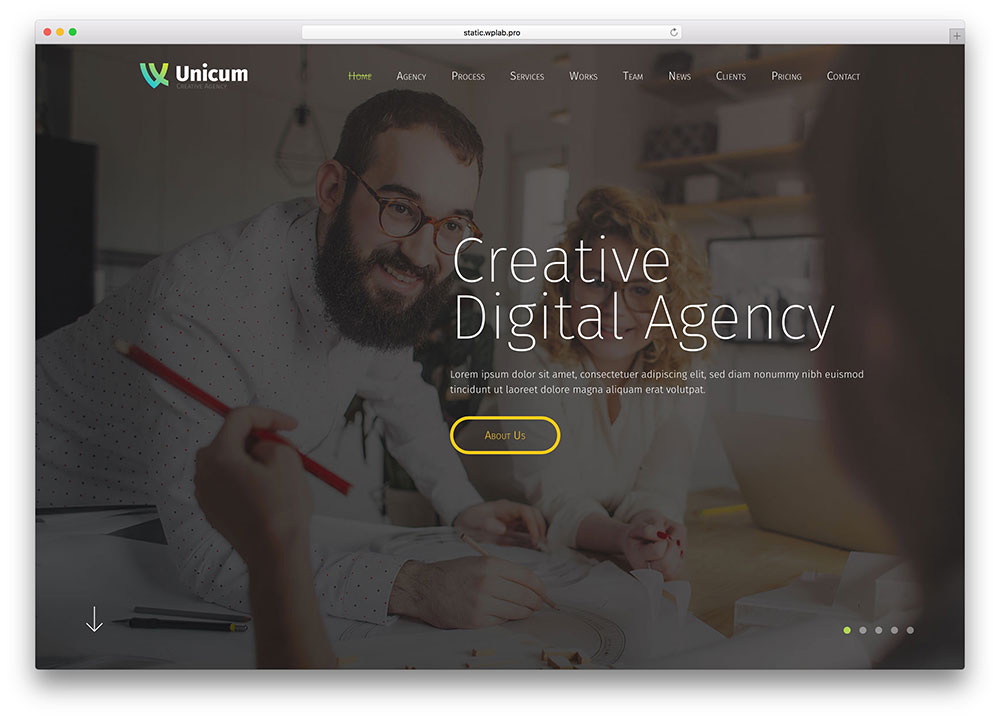 unicum-fullscreen-creative-agency-html5-template