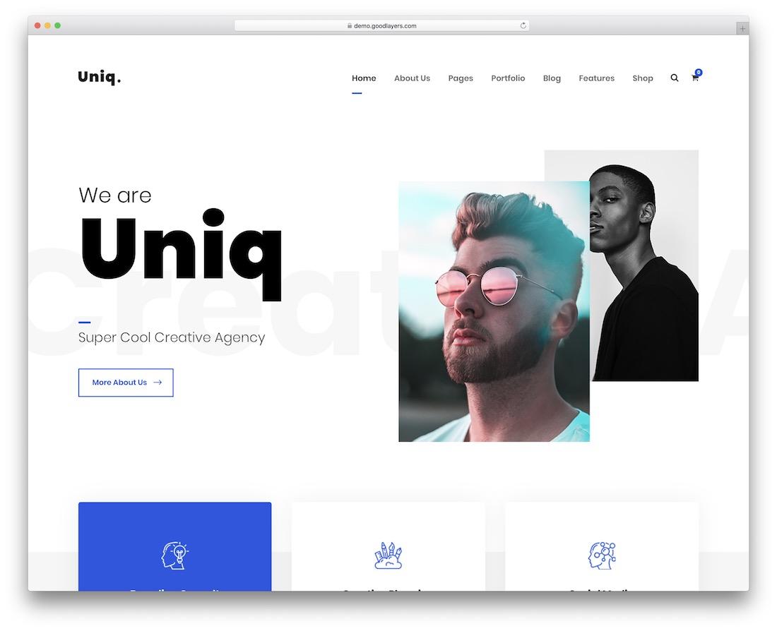uniq simple website template