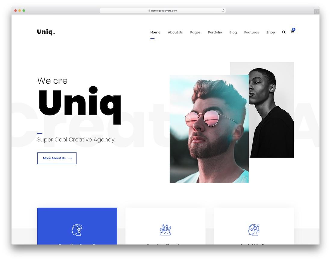 uniq simple wordpress theme
