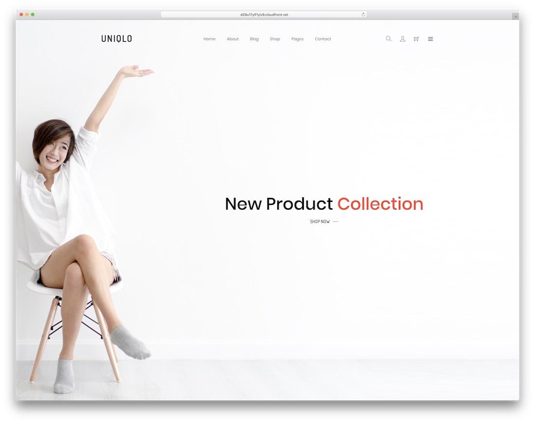 uniqlo ecommerce website template