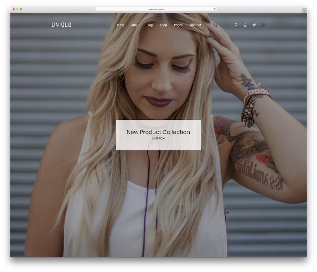 uniqlo website template