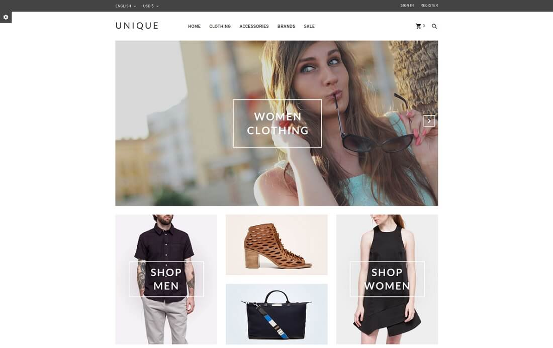uniqueshop prestashop theme