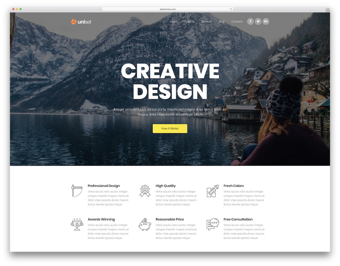 uniset mobile friendly website template