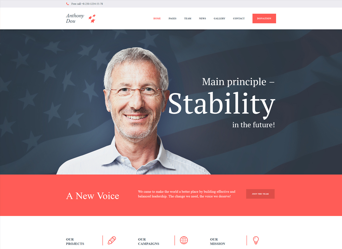 Unite | A Modern Political & Social WordPress Theme