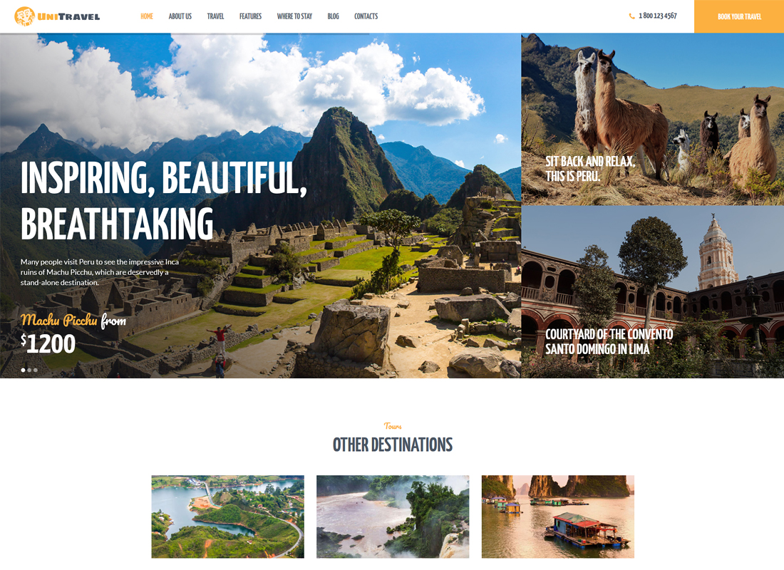 UniTravel | Travel Agency & Tourism Bureau WordPress Theme