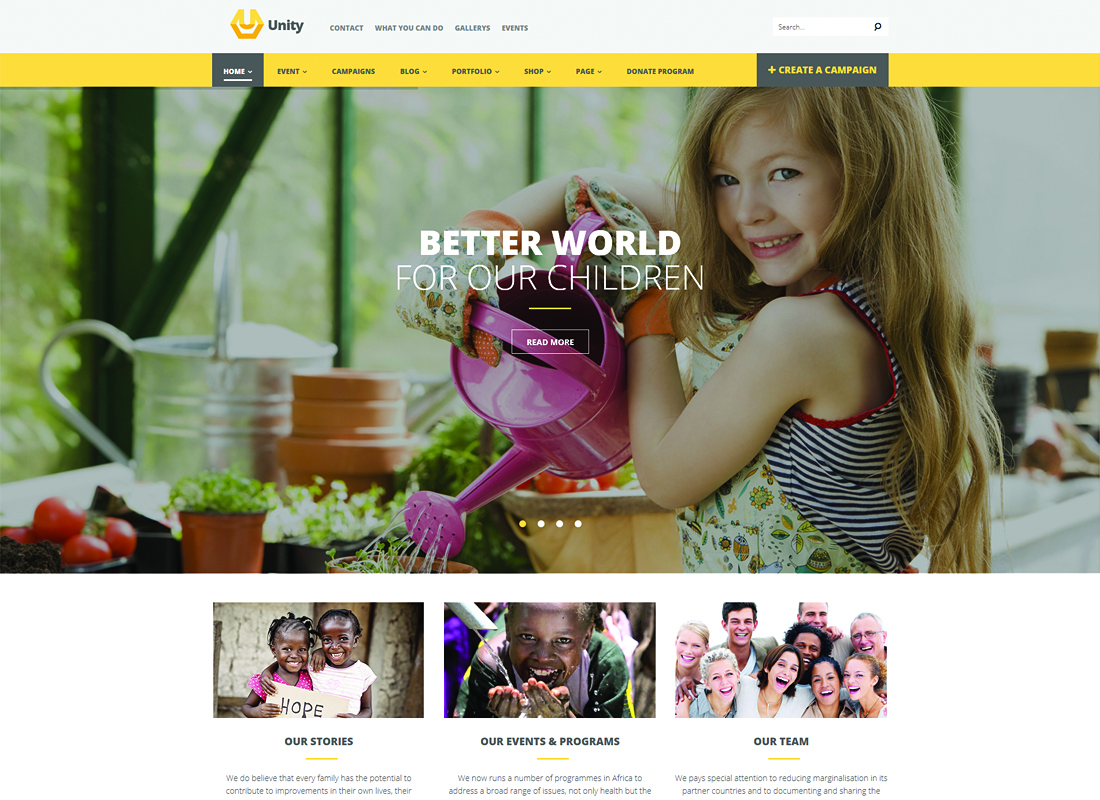 Unity | WordPress Crowdfunding WordPress Theme