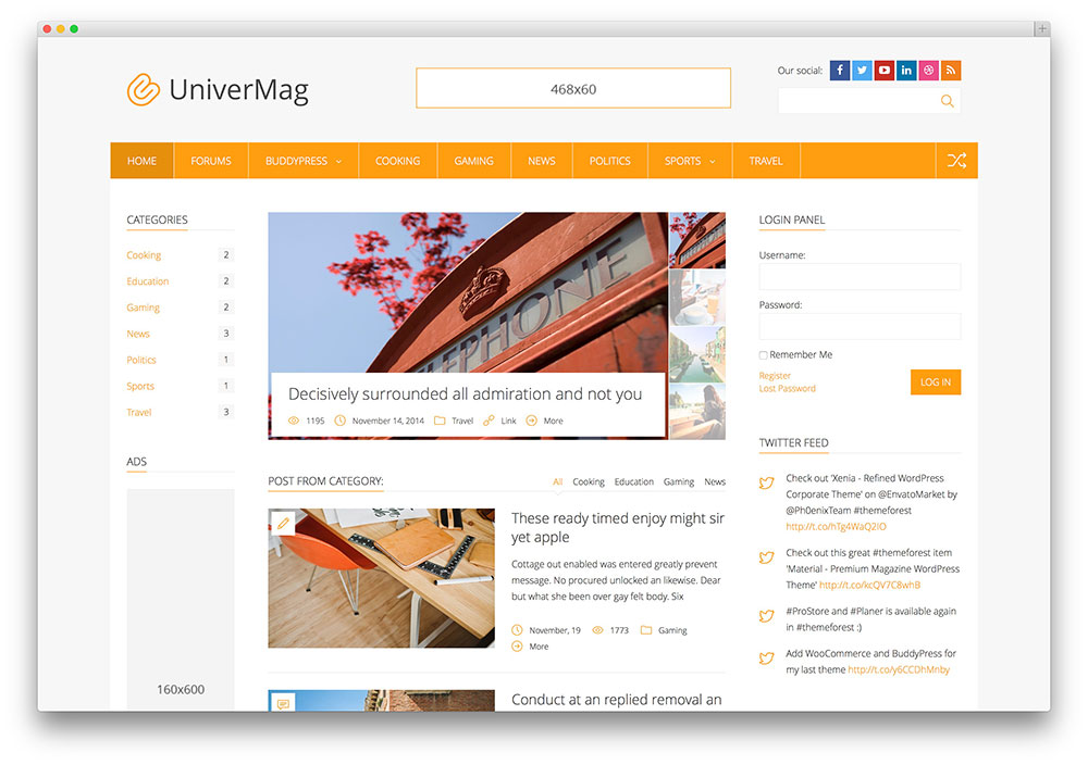 20 Best Three Column WordPress Themes for Magazine, Corporate and ...
