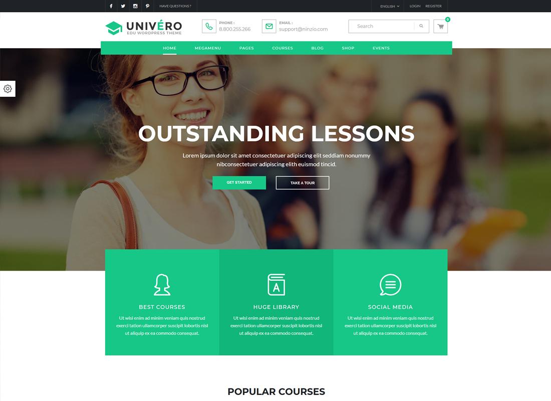 Univero | Education LMS & Courses WordPress Theme
