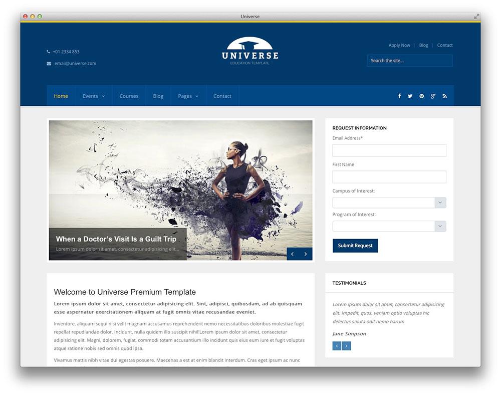 universe wordpress theme