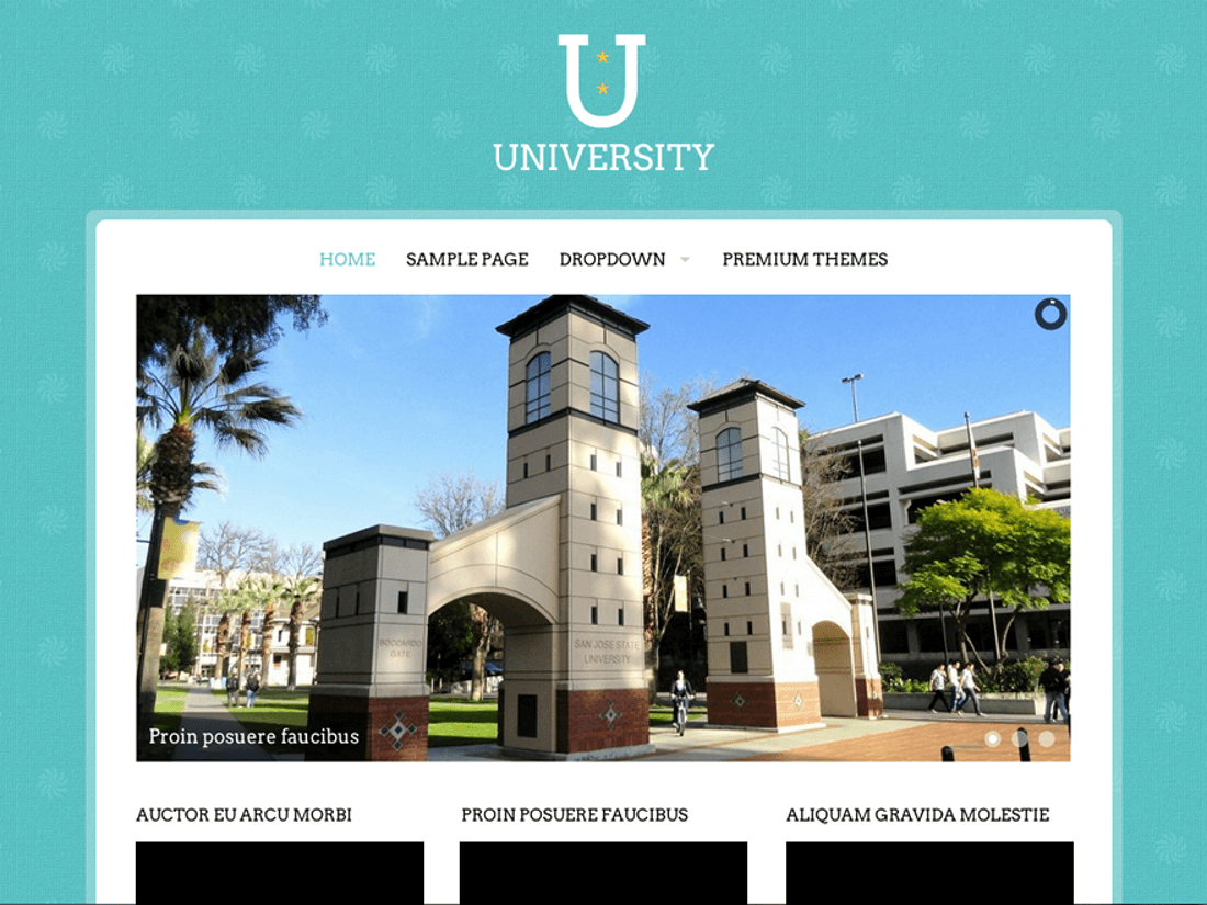 University WordPress Education Theme