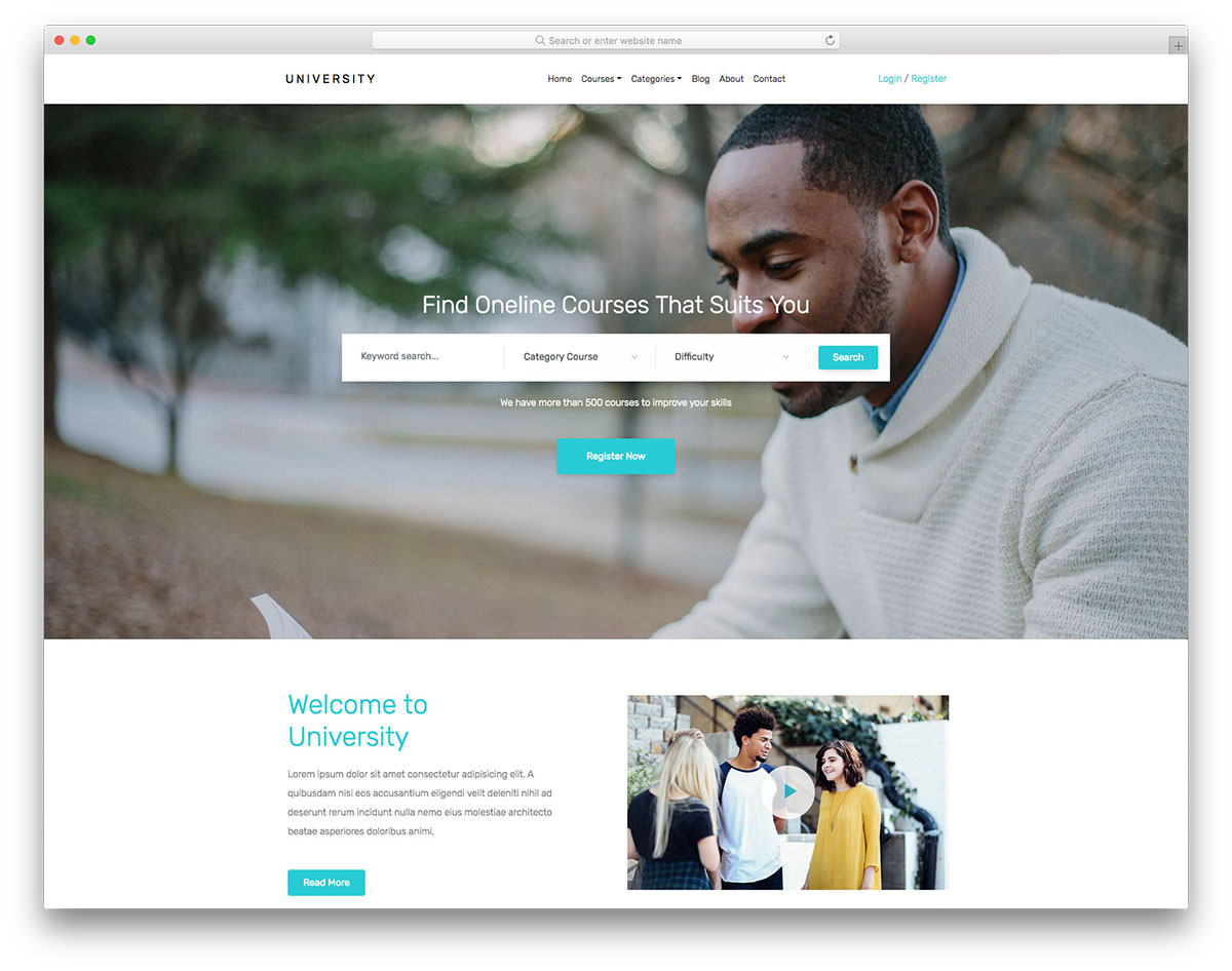 University Free Template