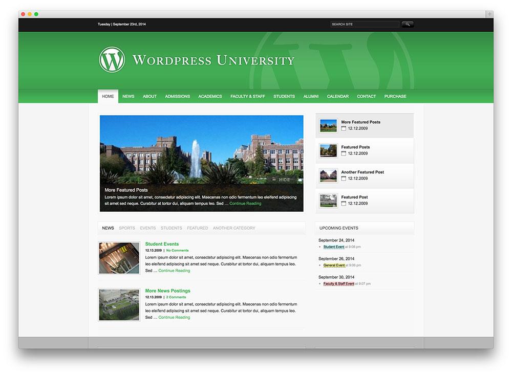 university - clean edu theme