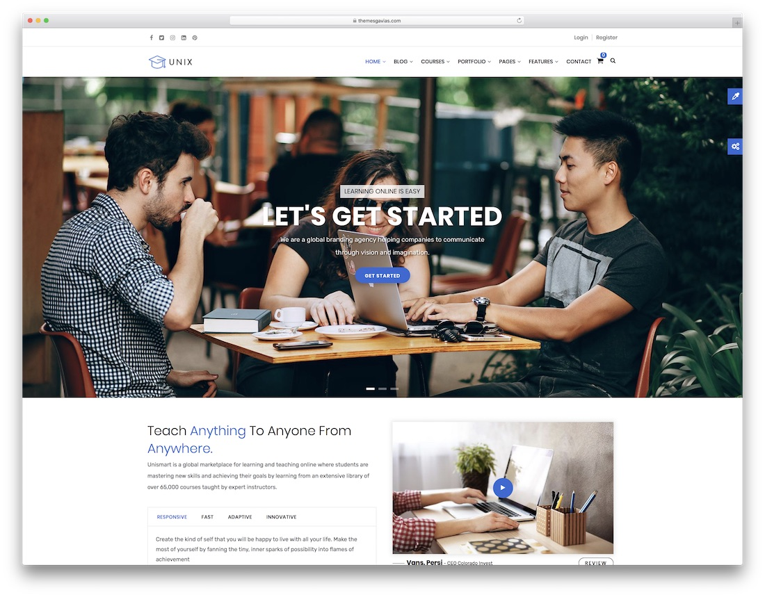 unix drupal business template