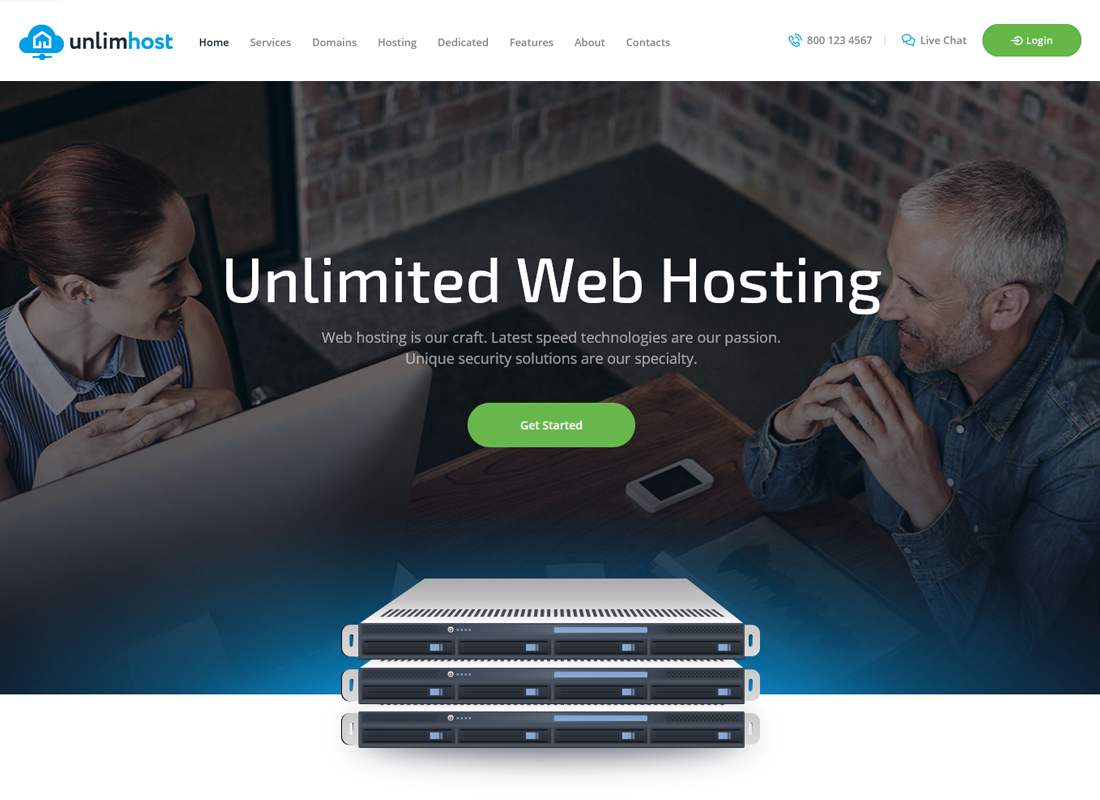 UnlimHost - A Hosting & Technology WordPress Theme