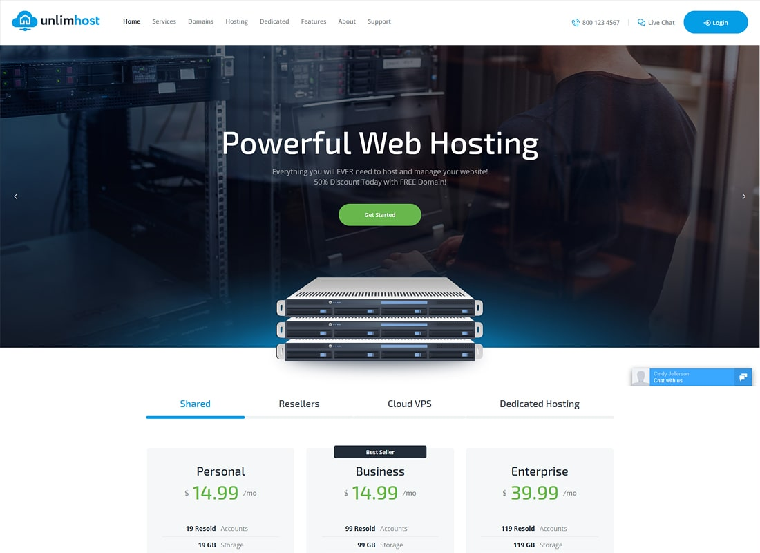 UnlimHost | A Hosting & Technology WordPress Theme