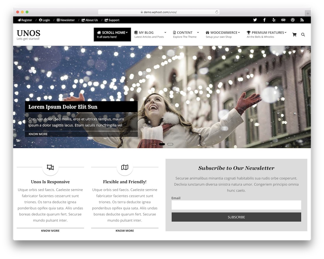 unos free wordpress theme
