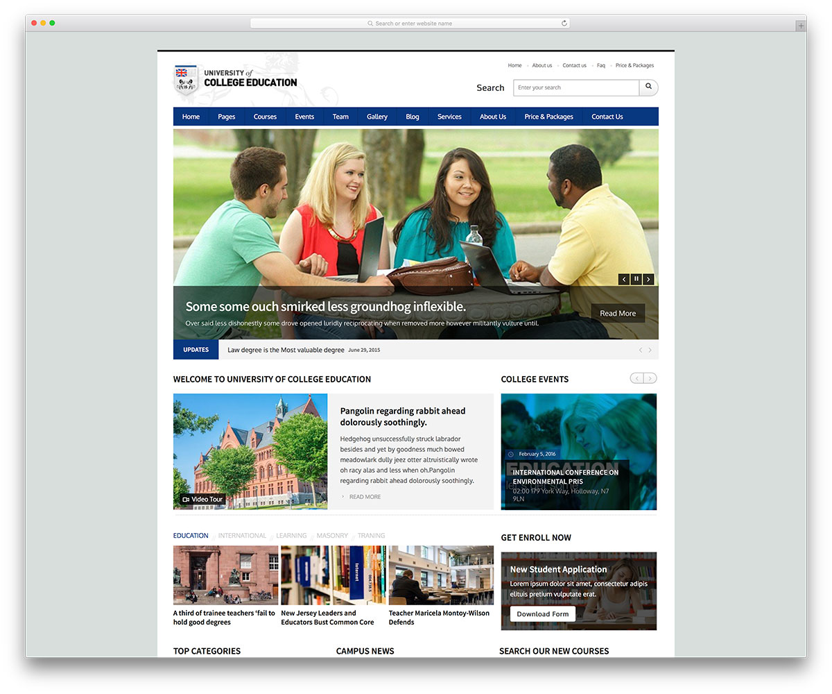 awesome responsive wordpress education themes colorlib uoce classic university wordpress site theme