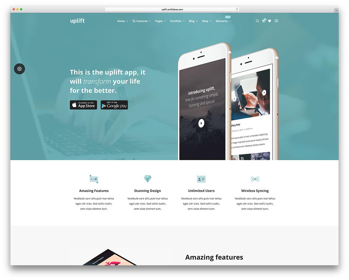 uplift-app-landing-page-website-template