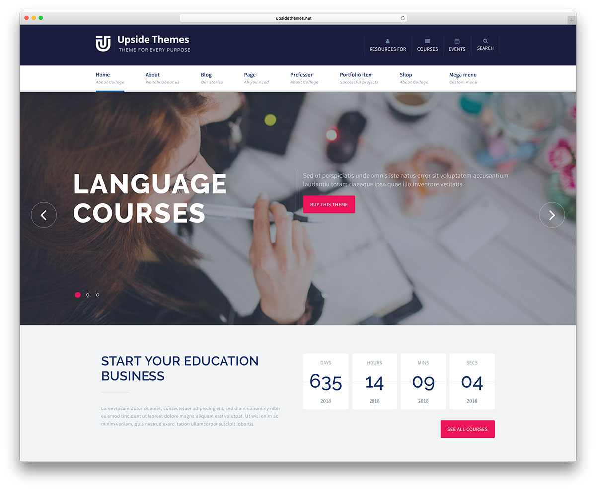 awesome responsive wordpress education themes colorlib upside multipurpose education wordpress website template