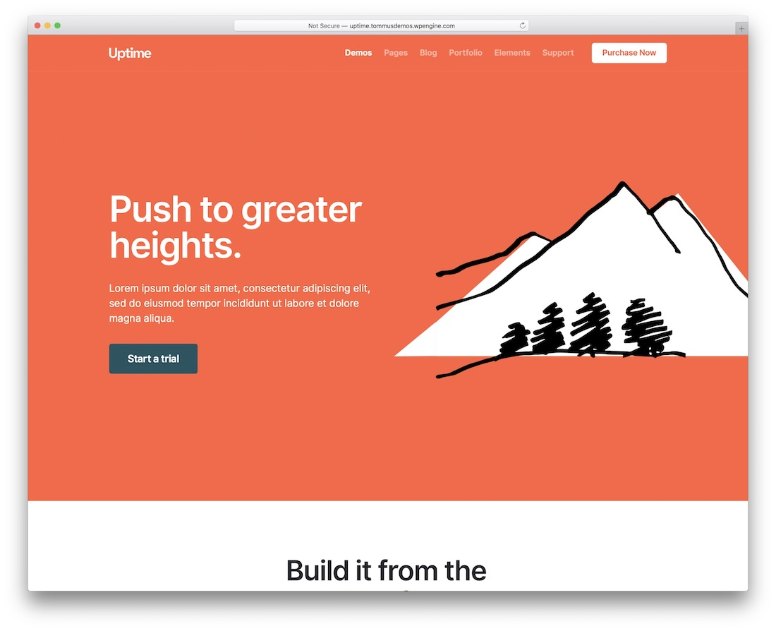uptime mobile-friendly website template