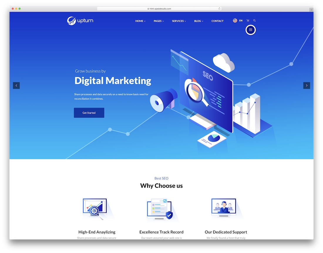 upturn mobile friendly website template