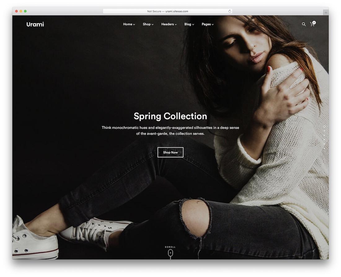 urami wordpress webshop theme