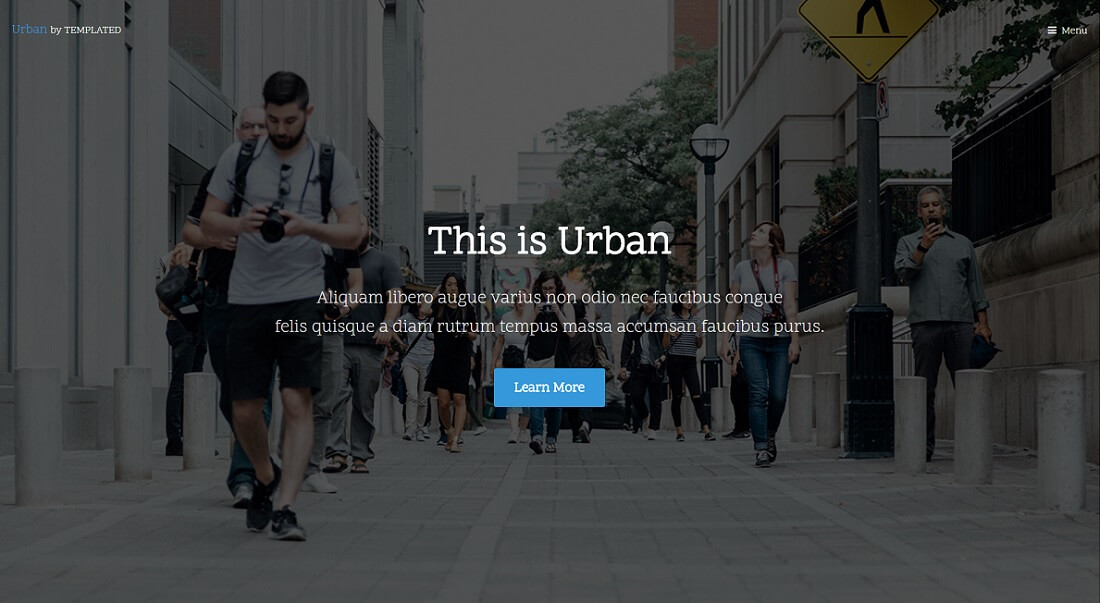urban free HTML website template