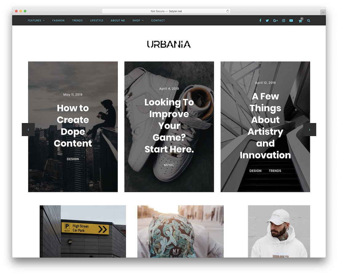 urbania grid website template
