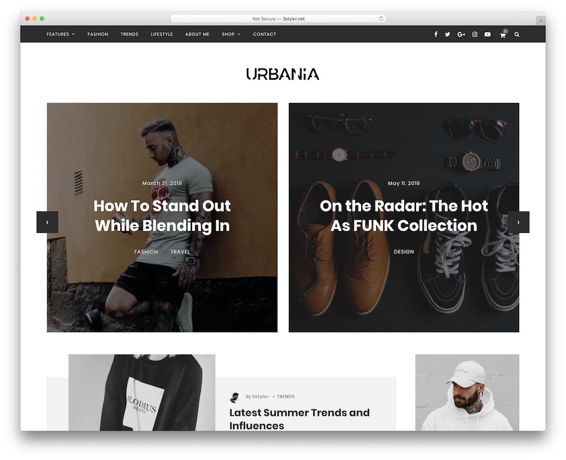 urbania wordpress theme