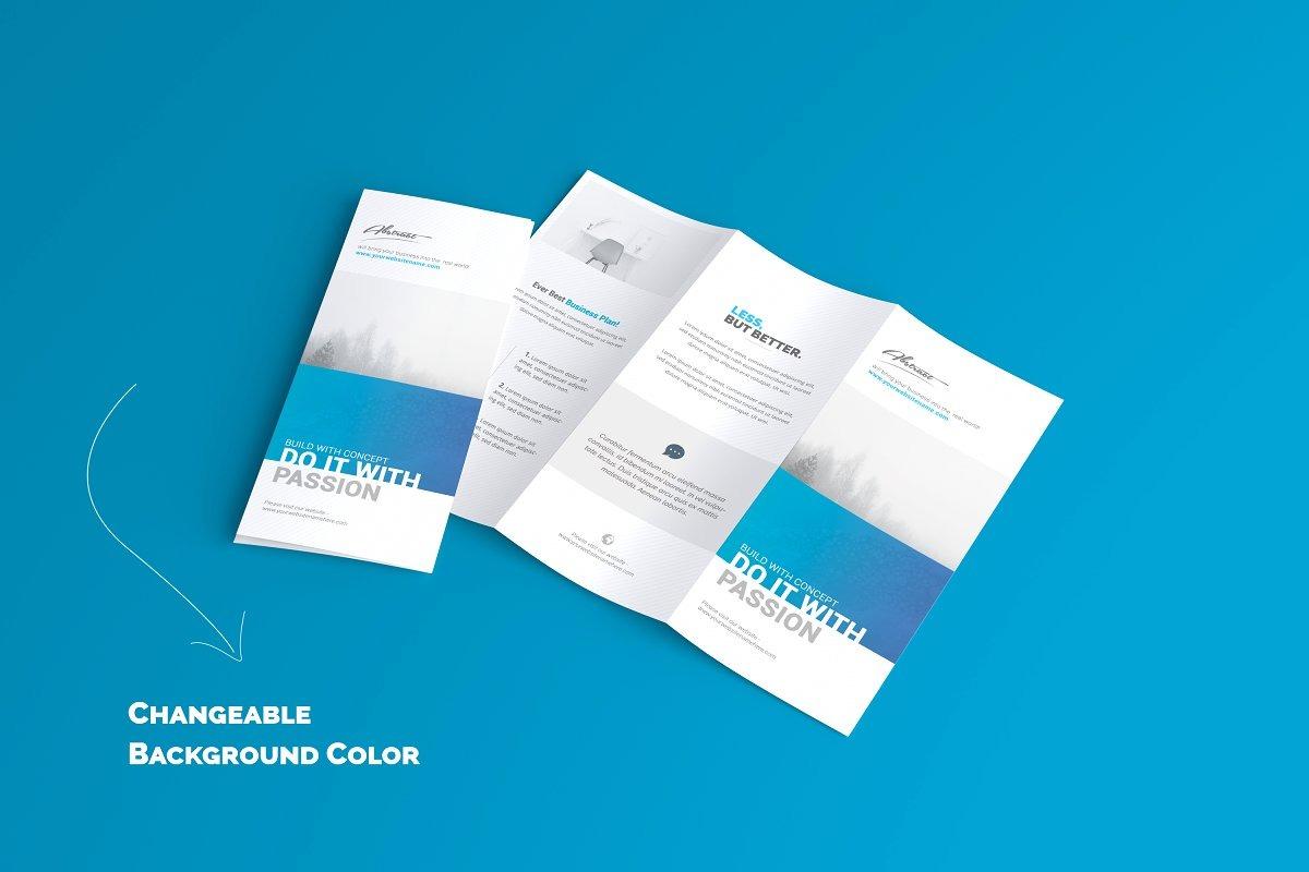 US Letter Sized Trifold Brochure Mockups