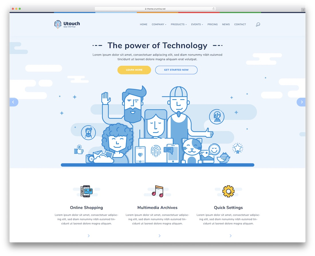 utouch html bootstrap business website template
