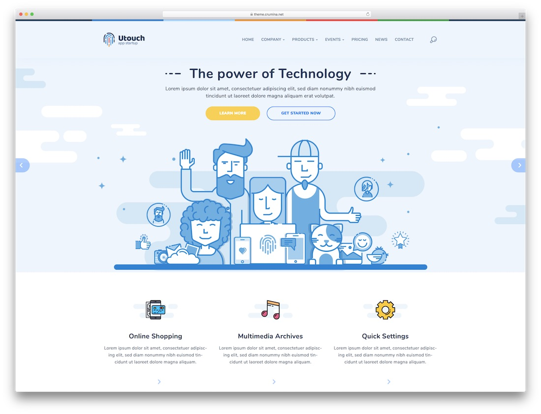 utouch software company website template