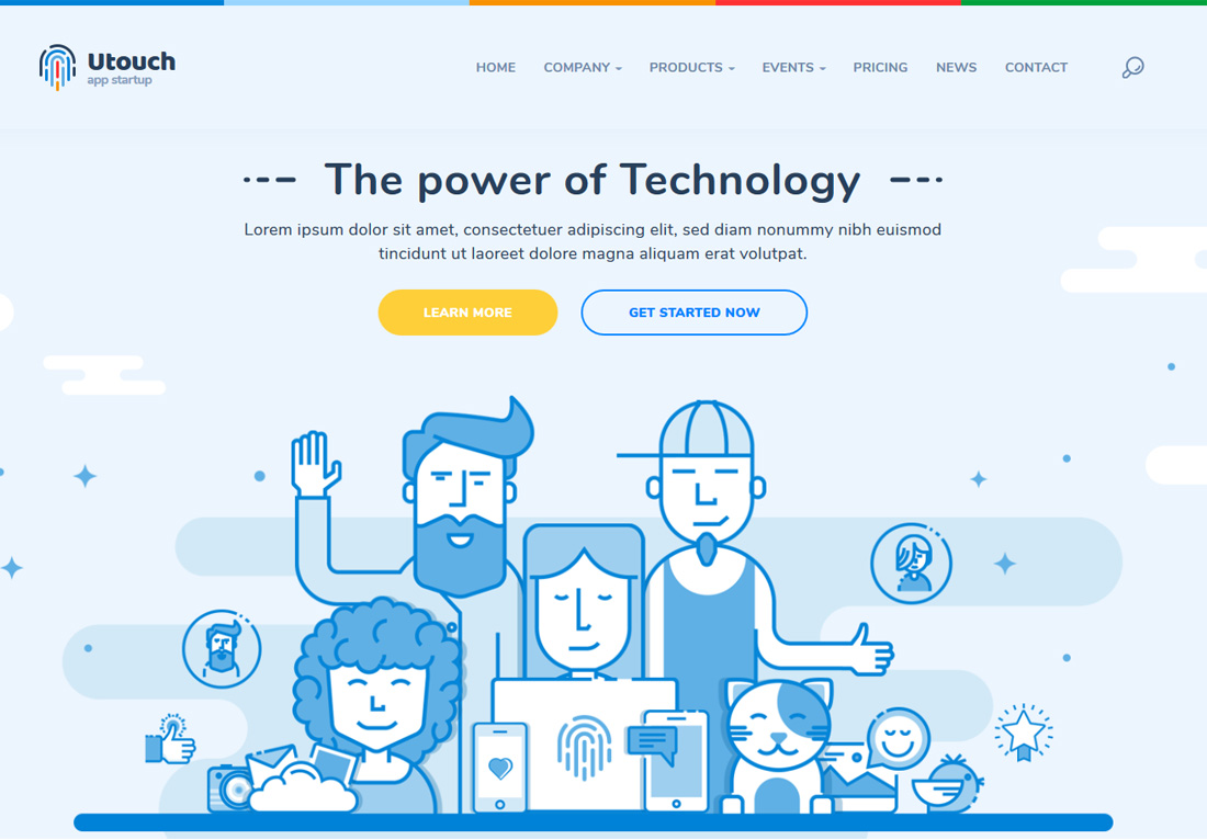 utouch-interactive-website-templates