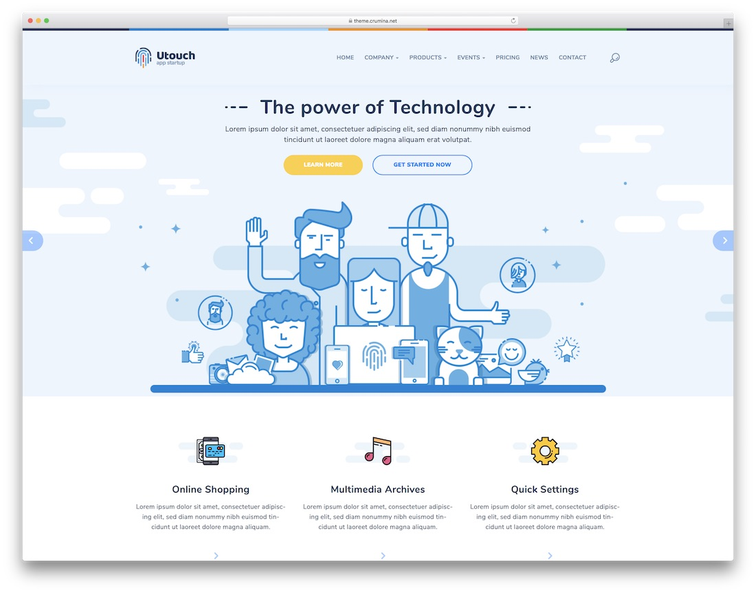 utouch mobile friendly website template
