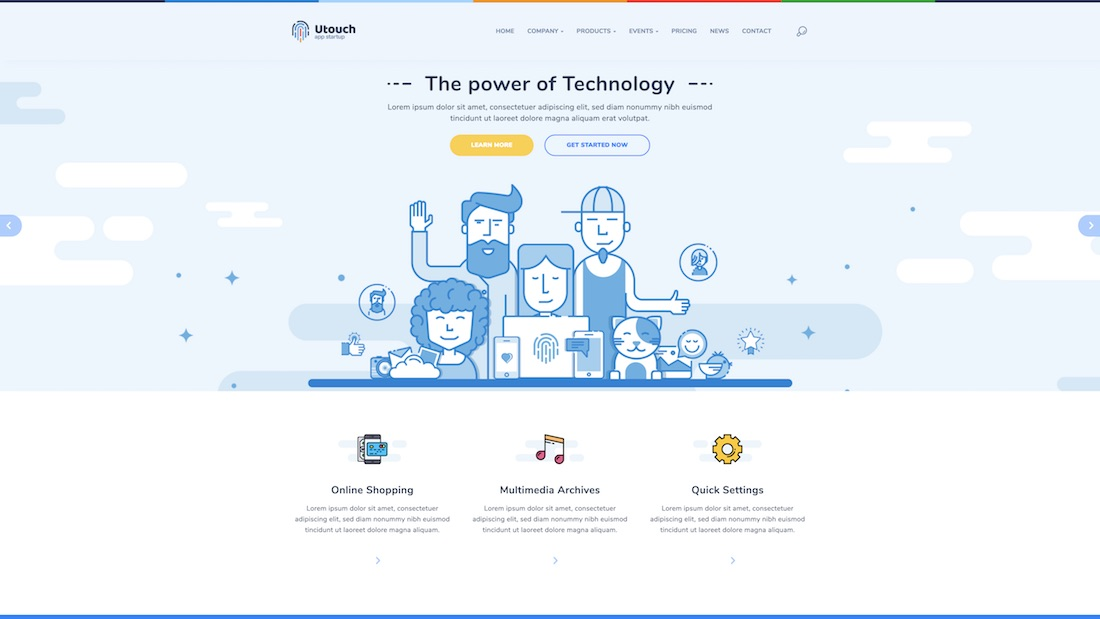 utouch mobile-friendly website template