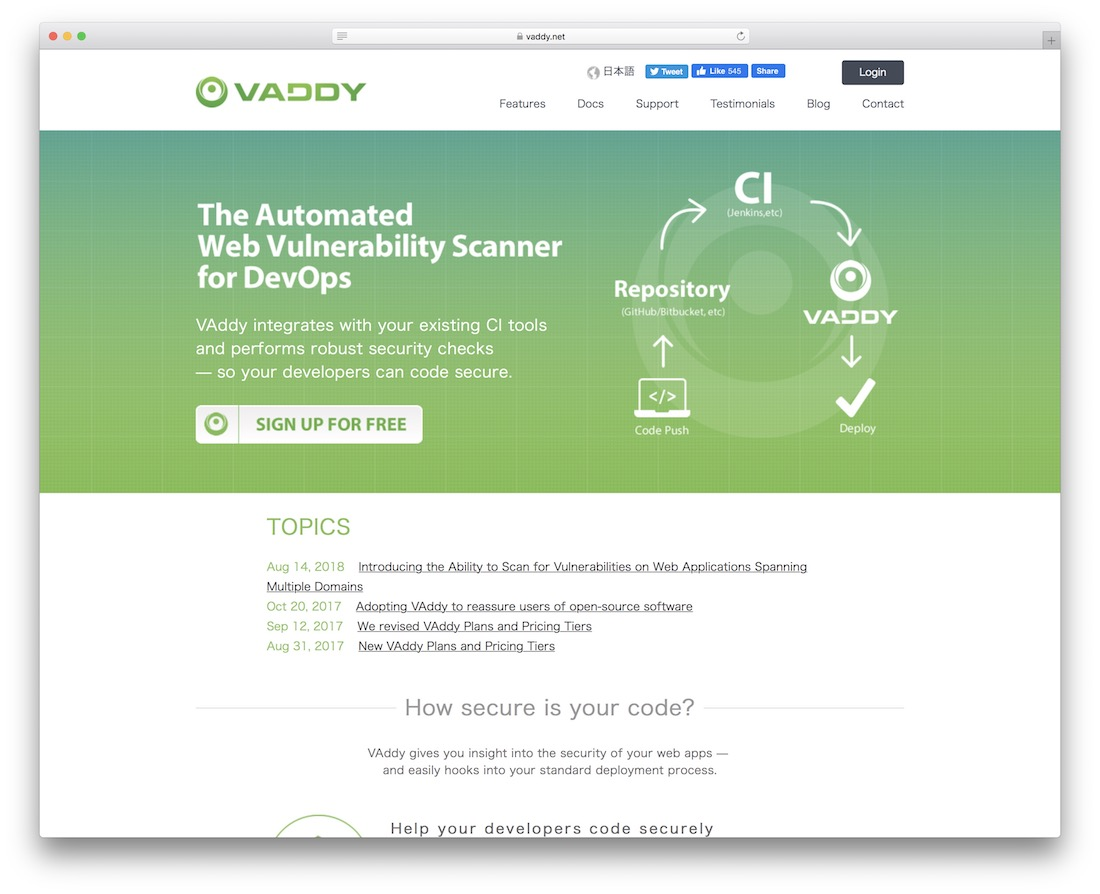 vaddy automated web vulnerability scanner